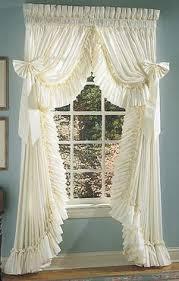 Sheer Ruffled Curtains Ellis Curtain Sheer Ruffled Priscilla Pair Curtains With