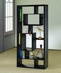 Oak Room Divider Amazon Com Coaster Room Divider Shelf In Black Oak Finish