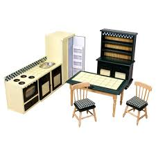dollhouse kitchen furniture doug dollhouse kitchen furniture reviews wayfair