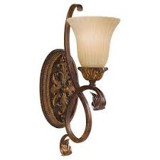 Shell Sconces Feiss Brown Sconces Bathroom Lighting The Home Depot
