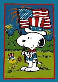 Snoopy Flags Independence Day Clipart Charlie Brown