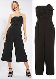 topshop jumpsuit topshop tie bandeau jumpsuit in black sizes 8 to 16 ebay