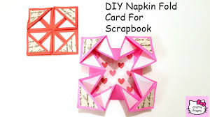 tutorial scrapbook card diy napkin fold card for scrapbook tutorial for scrapbook tutorial