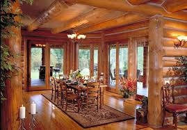 log home interior pictures log home dining