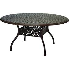 Darlee Santa Barbara  Piece Cast Aluminum Patio Dining Set With - 7 piece outdoor dining set with round table
