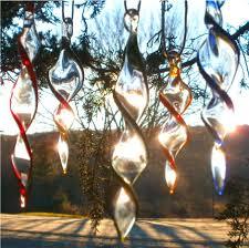 blown glass color twirl suncatcher ornaments