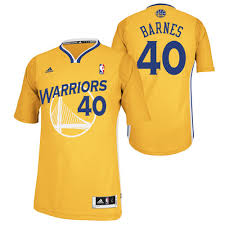 Harrison Barnes Shirt Warriors Harrison Barnes Alternate Sleeves Yellow Jersey