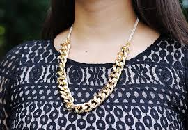 make chain necklace images Chunky chain necklace and bracelet jpg