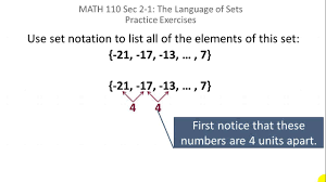 sets using set notation to list elements youtube