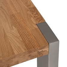 Esszimmertisch Holz Esstisch Eiche Holz Edelstahl Versch Größen Küchentisch
