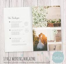 wedding magazine template 8 page wedding photography magazine template pg008 paper lark