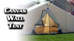 16x20 canvas wall tent from davis tent u0026 awning youtube