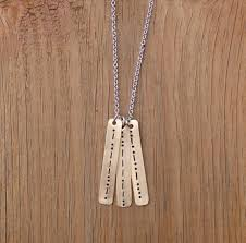 morse code necklace personalized morse code necklace sted faith brass necklace
