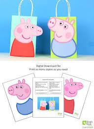 diy peppa pig george favor bags simply download print cut