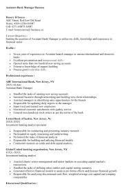 Branch Manager Resume Examples by Assistant Bank Manager Cover Letter