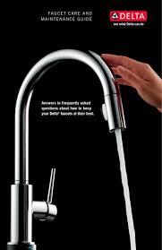 Delta Touch Kitchen Faucet Troubleshooting by Delta Faucet Care And Maintenance Guide Dl 1767 Delta Pdf