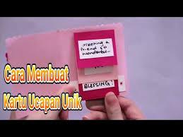 cara membuat kartu kuning di lung cara membuat kartu ucapan unik dari kertas origami youtube