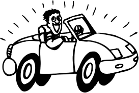driving car coloring pages place color