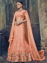 wedding chunni two tone fabric wedding a line lehenga rajwadi