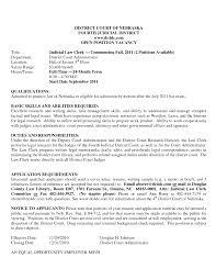 Sample Cover Letter For Law Judicial Law Clerk Resume Sample Job Paralegal Cover Letter