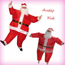 kid chub santa claus suit inflatable clothing blow up color