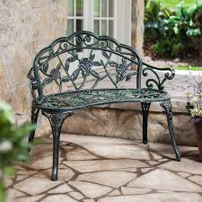 garden bench metal outdoor metal garden bench with garden bench