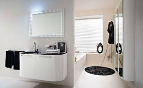 interior stunning modern small white bathroom decoration using