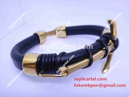 anchor bracelet black leather images Replica rolex anchor bracelet black leather gold anchor rolex jpg