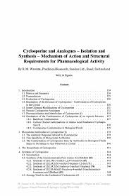 Research Proposal Essay Example Cyclosporine And Analogues U2014 Isolation And Synthesis U2014 Mechanism