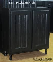 Kitchen Recycling Bins For Cabinets Giy Goth It Yourself Kitchen Makeover Diy Trash Bin