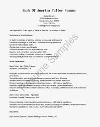 Banking Objective For Resume Good Resume For Bank Teller Teller Teller Supervisor Bank
