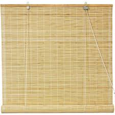 burnt bamboo roll up blinds honey walmart com