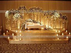 decoration for wedding golden wedding theme decoration stage setup theme