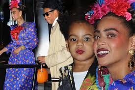 beyonce wows as frida kahlo as she watches new york halloween
