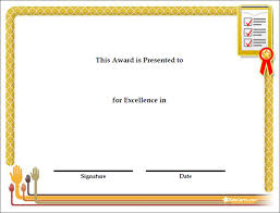 award certificate template award certificate for participation