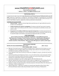resume for security guard with no experience prepossessing police officer resume skills also police officer