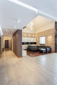 grand design living room and corridor of a modern house stock