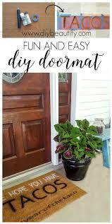 Fun Doormat Fun Diy Front Door Mat Ideas And Tutorial Diy Beautify