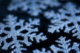 photo of blue snowflake decorations free images
