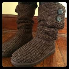 s cardy ugg boots grey 63 ugg shoes authentic brown and gold knit cardy ugg boots