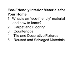 eco friendly interiors ppt video online download