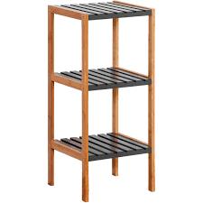 Display Shelving by 3 Tier Bamboo Display Shelf Charcoal Big W