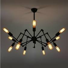 industrial style lighting chandelier industrial style edison bulb silk steunk retro iron chandelier