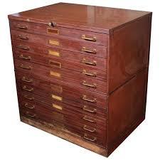 Vintage Metal Storage Cabinet Vintage Art Metal Flat File Storage Cabinet With Brass Hardware At