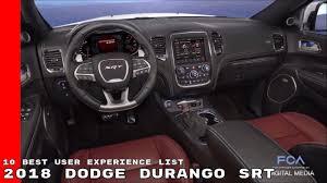dodge durango srt 10 2018 dodge durango srt named 10 best user experience list