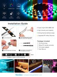 How To Cut Led Strip Lights by Amazon Com Led Light Strip Nexlux 16 4ft Waterproof Ip65 5050