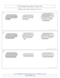 Coin Worksheets Counting Canadian Coins Sorted Version No Dollar Coins A