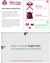 United Bag Policy by Ohiostatebuckeyes Com The Ohio State University Official