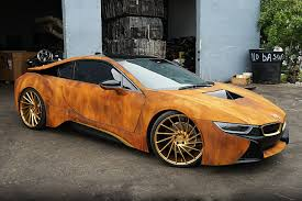Bmw I8 Features - this customized bmw i8 features a rusty exterior bmw i8 custom