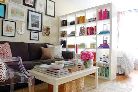 Bookshelves Small Spaces by Expedit Ikea Bookshelf As A Dividing Wall In A Studio Apartment